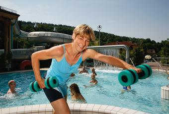 Aqua Gym at the Water Park Sinnflut.